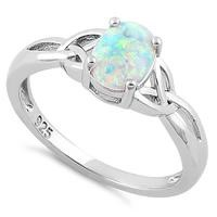 Charmed White Lab Opal Ring