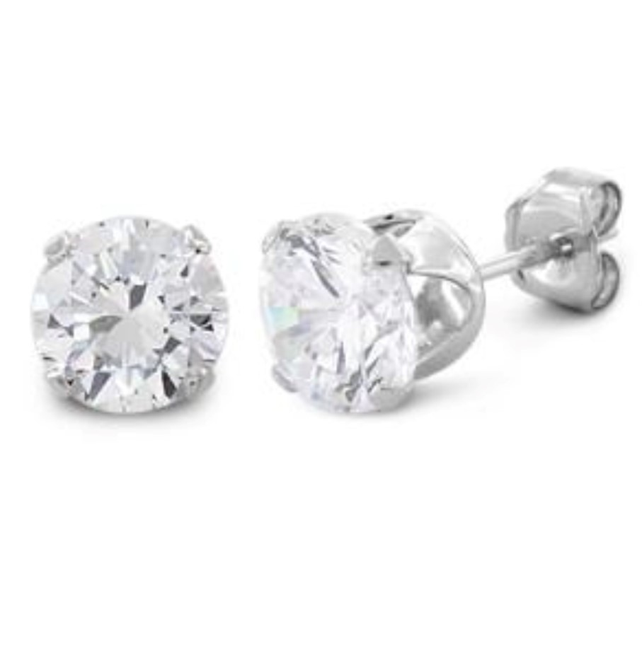 1.5ct sterling silver studs with cz stones