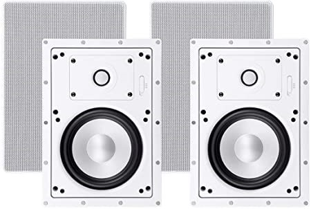 MONOPRICE 2-Way Architectural Aluminium in-Wall Speakers- 6.5 Inch (Pair) W