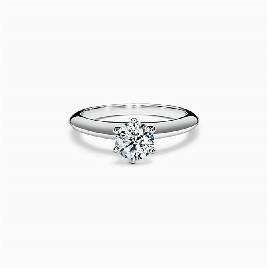 Tiffany & Co. Platinum and Diamond Solitaire Ring