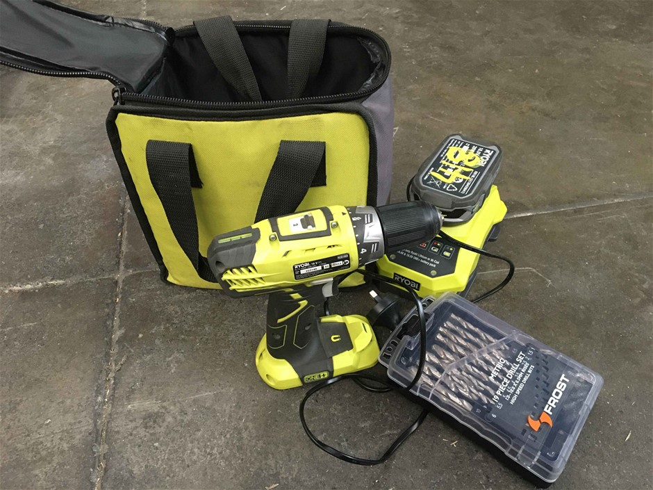 Ryobi RCD1802 18v Cordless Power Drill with Charger & Battery