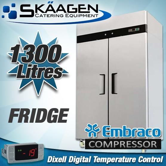 Unused Double Door Fridge 1300L - MBC02-SS
