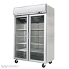 Unused Double Glass Door Freezer 900L - YCF02-GL