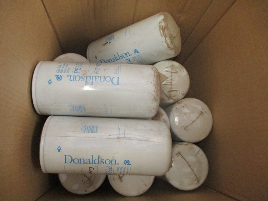 Box of Donaldson Oil Filters