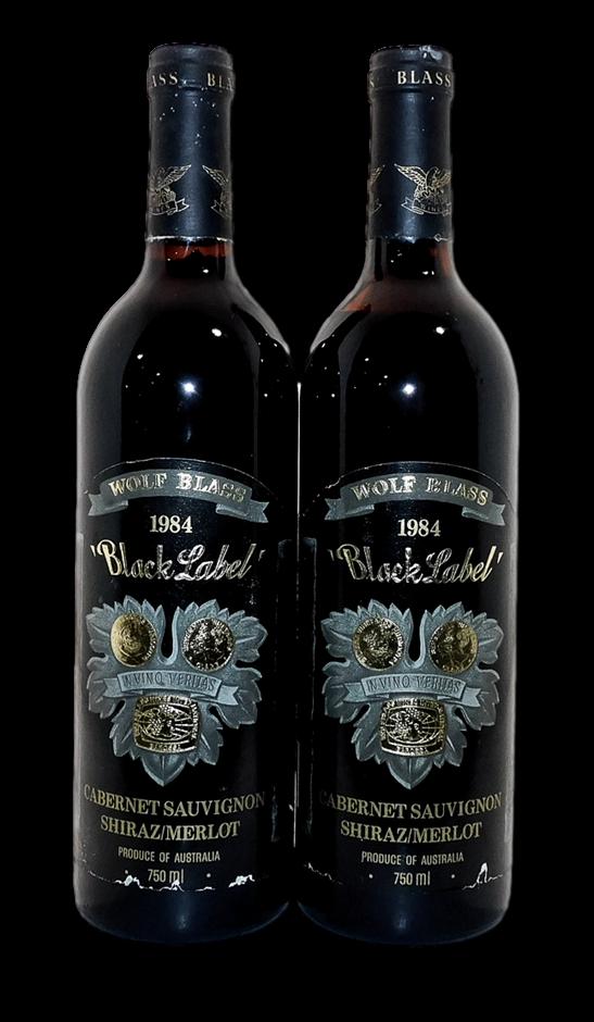 Wolf Blass Black Label Cabernet Shiraz Merlot 1984 (2x 750mL), SA