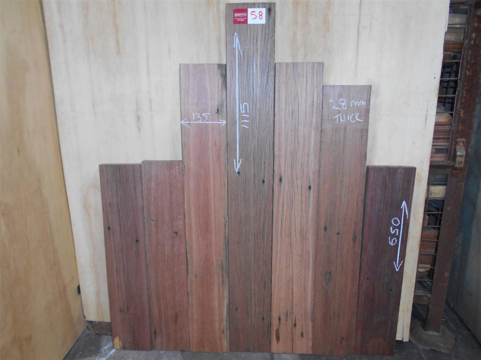 Assorted timber / furniture board pack (6 boards) - Recycled Australian HWD