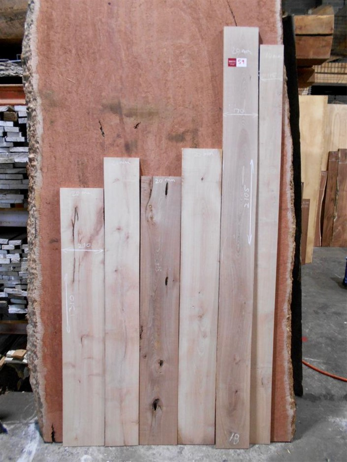 Assorted timber / furniture board pack (5 boards) - Australian Coachwood
