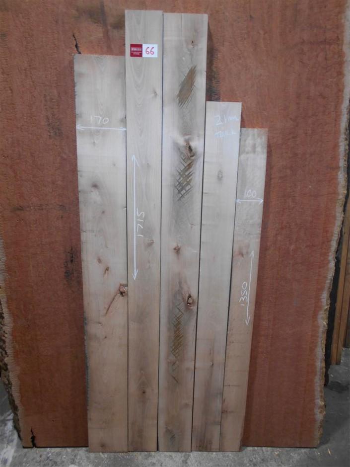 Assorted timber / furniture board pack (5 boards) - Australian Coachwood