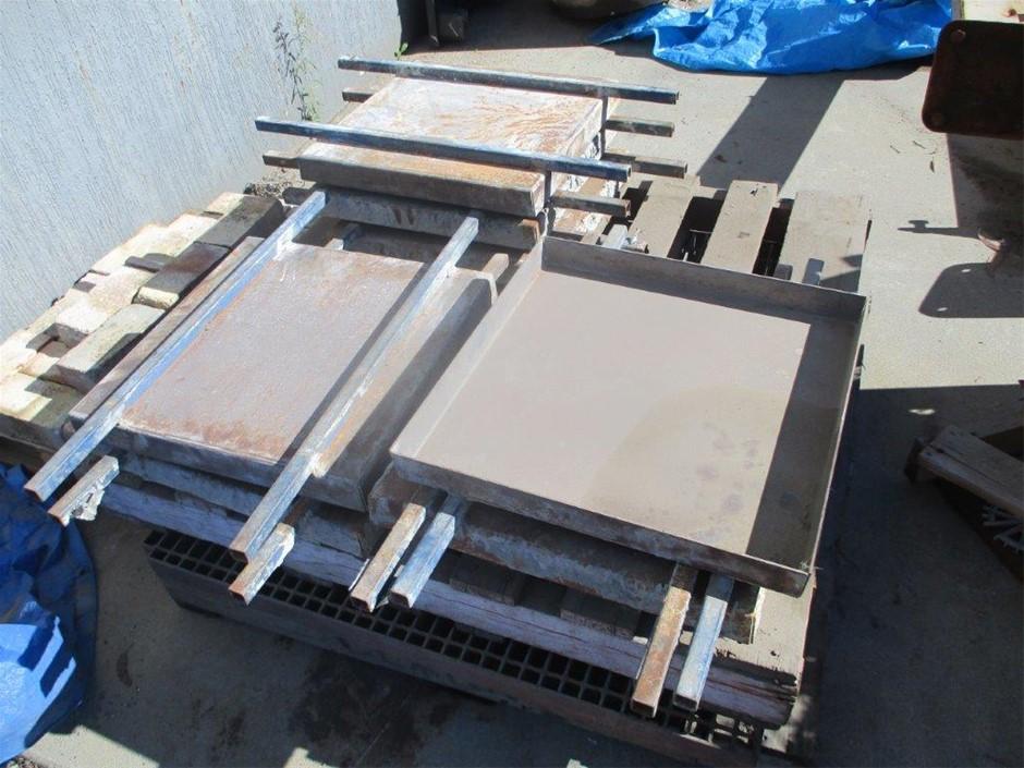 8 x Steel Concrete Paver Forms