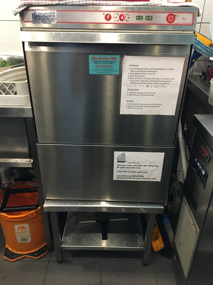 Madison IM5 Underbench Commercial Dishwasher on Stand