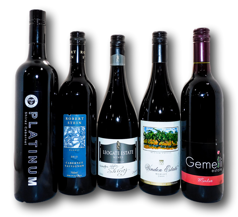 Mixed Pack of Hunter Valley Reds (5x 750mL), NSW
