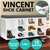 Shoe Rack Cabinet Organiser Grey Cushion - 104 x 30 x 45 - White