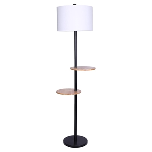 Metal Floor Lamp Shade with Black Post i