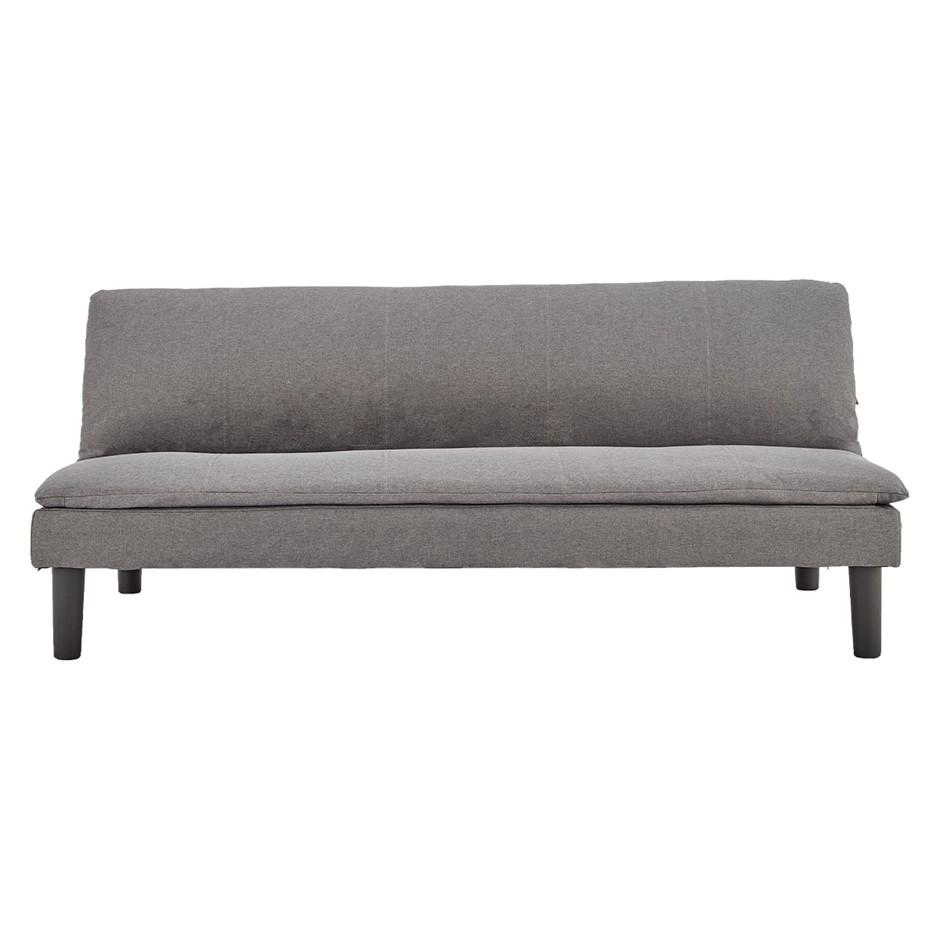 Sarantino 3 Seater Modular Faux Linen Fabric Sofa Bed Couch -Dark Grey