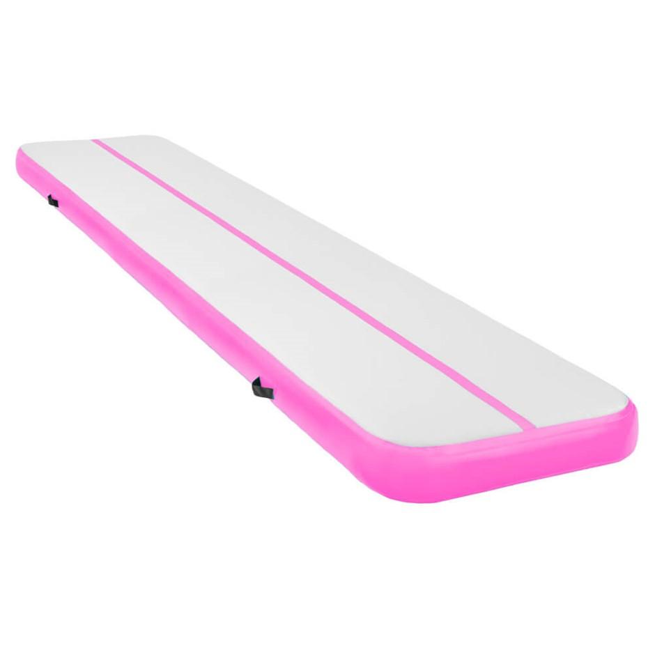 5m x 1m Air Track Inflatable Gymnastics Tumbling Mat - Pink