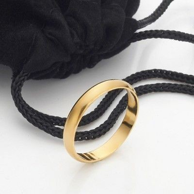 18ct Yellow Gold Plated Men's Band Ring (4mm) - US Size 10
