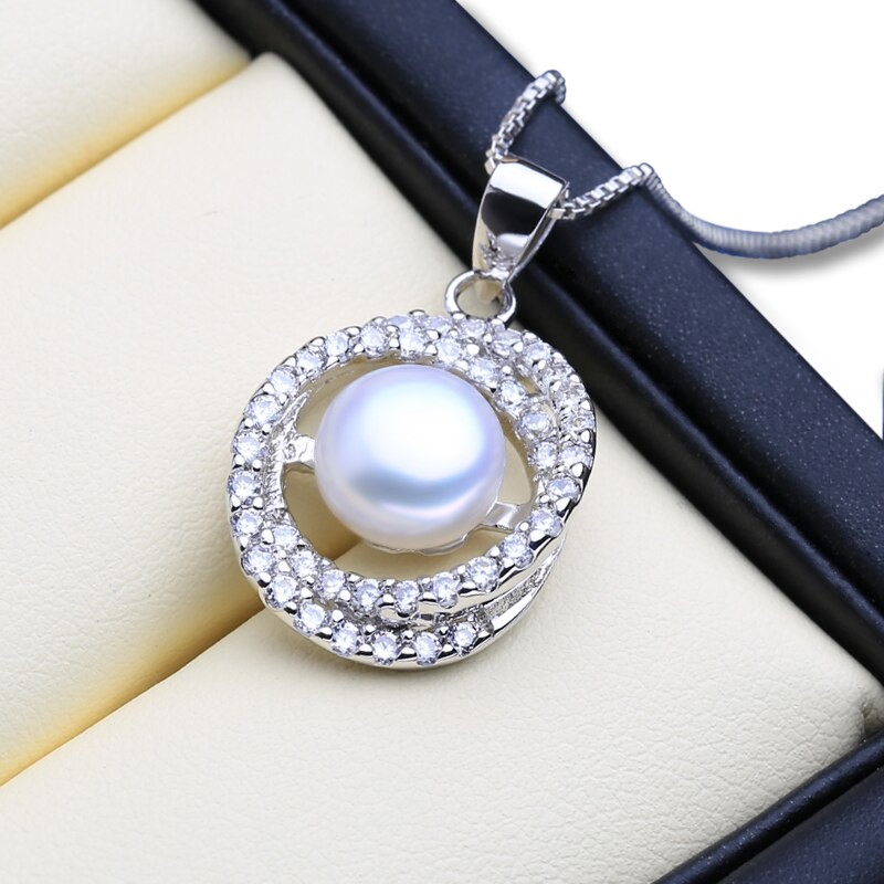 Genuine Freshwater Pearl Eternity Necklace (White) - WITH JEWELLERY BOX