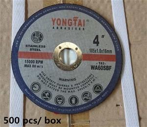 2500PCS Yongtai 105mm Black Cutting Disc