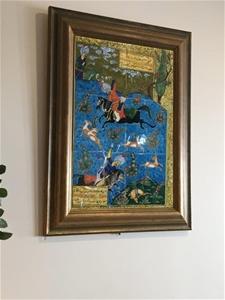 Framed Persian Themed Artwork