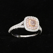 18ct White and Rose Gold, 0.85ct Engagement Diamond Ring