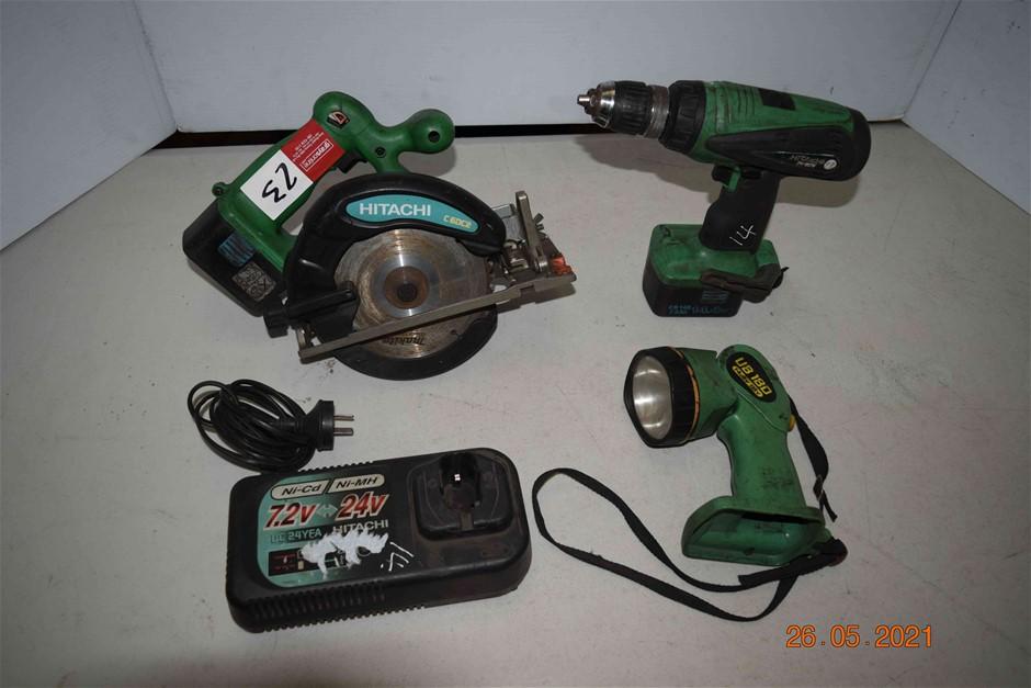 Lot of 3 Hitachi Cordless Power Tools