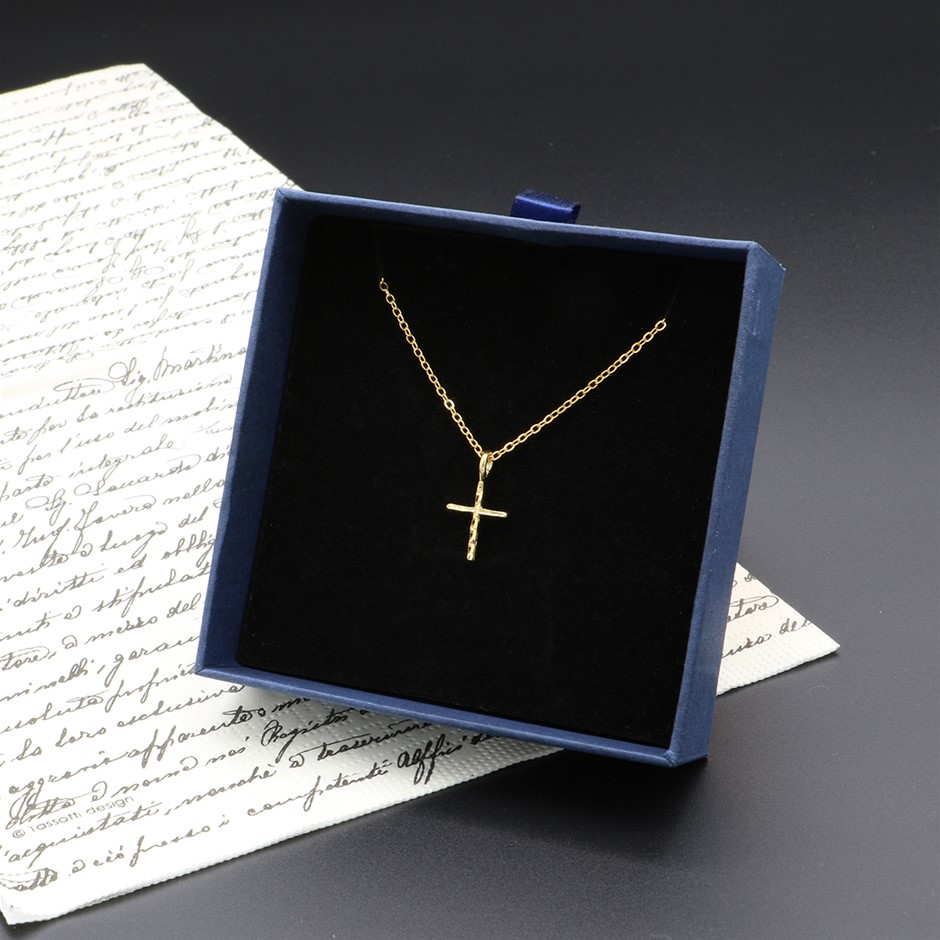 18ct Yellow Gold Plated Holy Cross Pendant