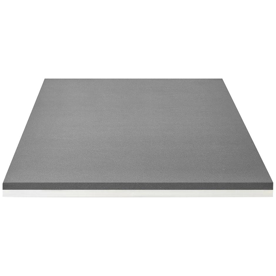 BLACKSTONE 8cm Charcoal Memory Foam Rejuvenator Mattress Topper, King. (SN: