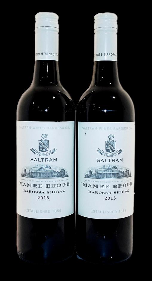 Saltram Mamre Brook Shiraz 2015 (2x 750mL), Barossa