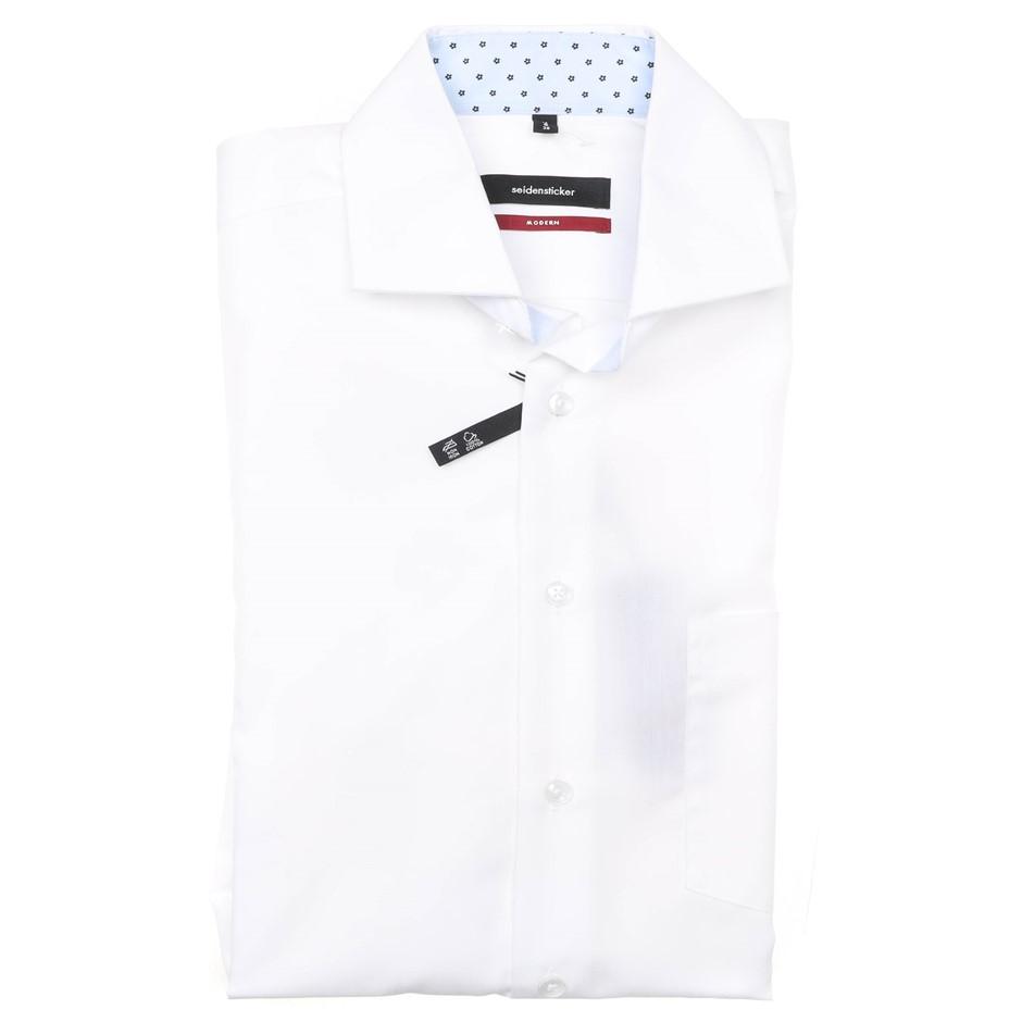 SEIDENTSICKER Men`s S/S Dress Shirt, Size 38 EU/ S, Modern Fit, 100% Cotton