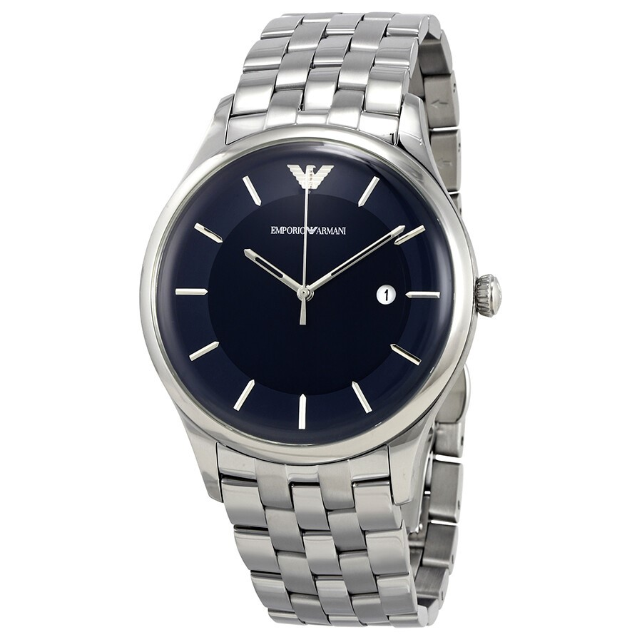 Sleek new Emporio Armani Blue Dial Men's Stainless Steel Watch