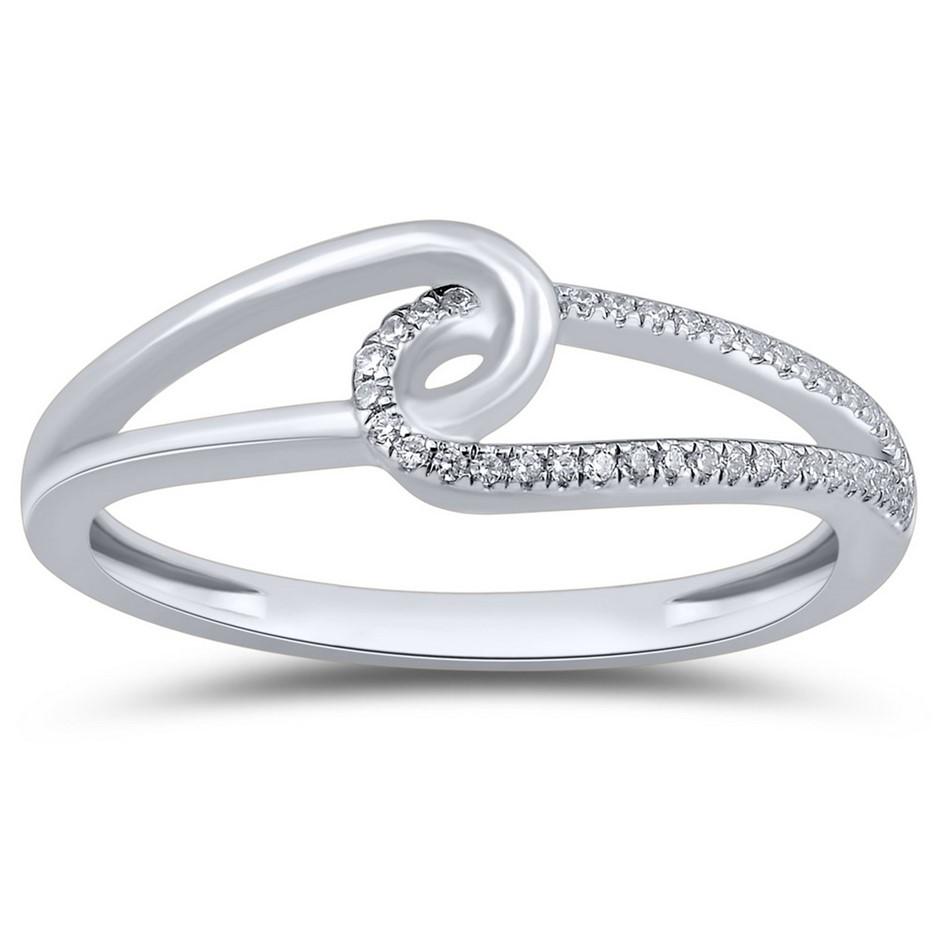 9ct White Gold, 0.05ct Diamond Ring