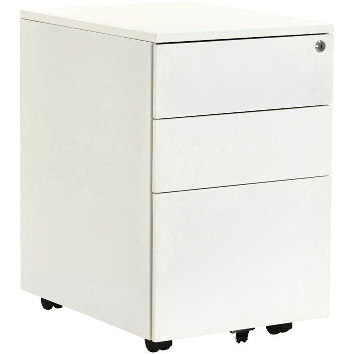 Stilford 3 Drawer Mobile Filing Pedestal White
