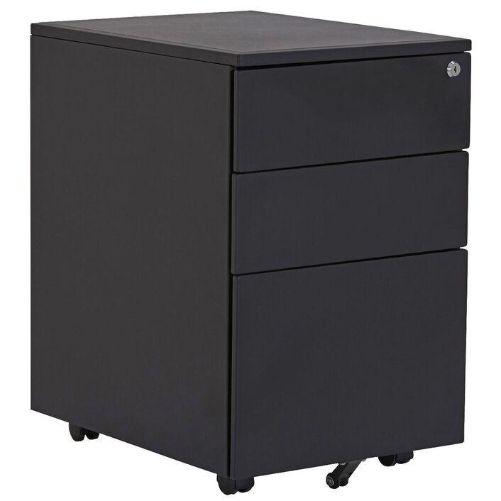 3 x Stilford 3 Drawer Mobile Filing Pedestal Black