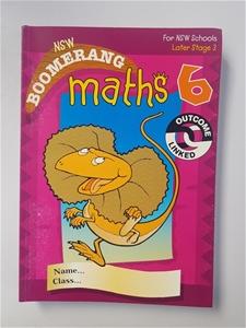 10 X NSW Boomerang Maths 6 student book,