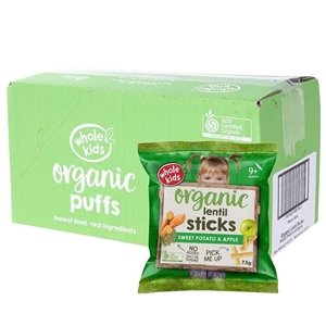 100 Packets x Organic Lentil Sticks Swee