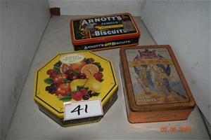 Lot of 3 Vintage Biscuit Tins