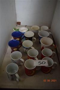 Lot of 15 Assorted Coffee/Tea Mugs