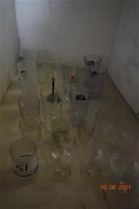 Lot of 26 Assorted Beverage Glasses