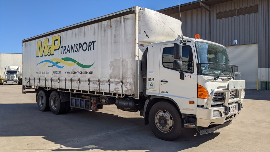 2016 Hino 500 6 x 2 Curtainsider Rigid Truck
