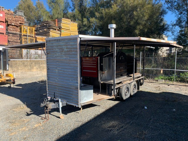"""'Commercial Wood-fired Catering trailer"""""""