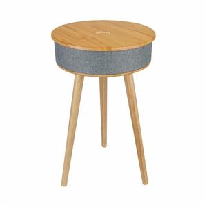 Wood Smart Coffee Side Table Desk w/ 8W