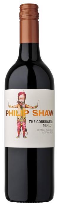 Philip Shaw The Conductor Merlot 2018 (12x 750mL), Orange NSW. Screwcap