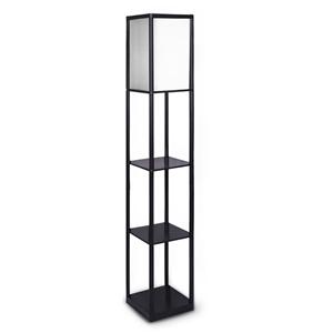 Etagere Floor Lamp Shelves in Black Fram