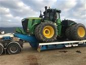 3 x John Deere Scraper Tractors & 4 x Drawn Ejector Scrapers