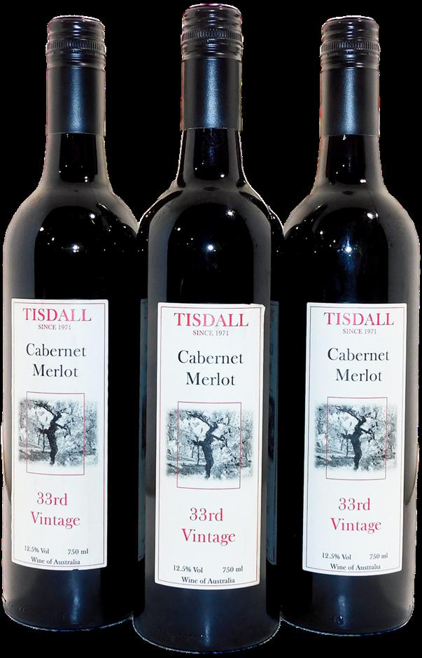 Tisdall Wines 33rd Vintage Cabernet Merlot NV (3x 750mL), Central Victoria