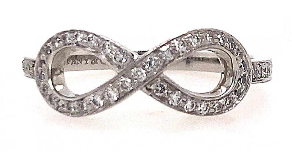 Tiffany & Co. platinum diamond infinity ring