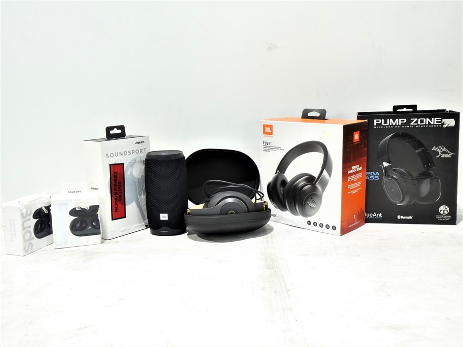 Bundle Of Used & Untested Assorted Earphones and Speakers