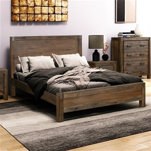 Bed Frame Double Size in Solid Wood Vene