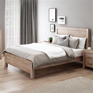 Bed Frame Queen Size in Solid Wood Venee