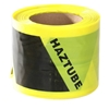 4 x Roll HAZTUBE Black/Yellow Safety Scaffold Tube 100mm x 50m. Buyers Note